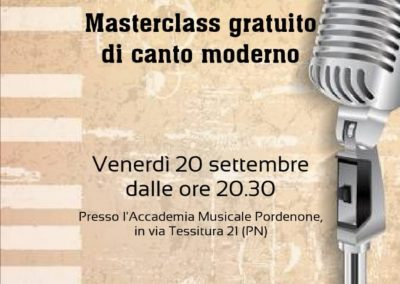 Masterclass di Canto moderno. Docente Roberto Cozzarin